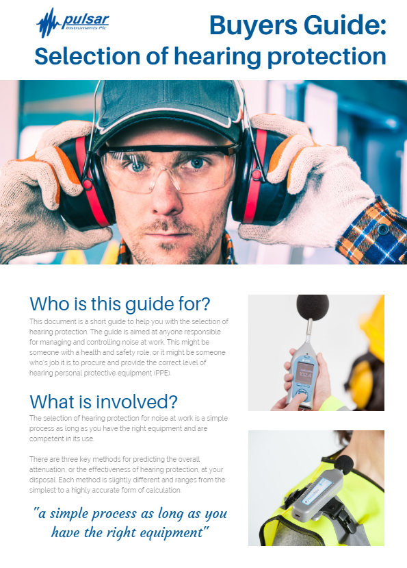 Personal Ear Protection – PPE for noise at work